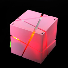 Q.one Portable Mini Bluetooth Speaker with LED Light Built-in 500mAh Battery Support TF Line Stereo Sound Box Subwoofer Speaker