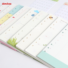 Cute 6 holes replacement inner paper core for spiral notebook:daily weekly monthly planner line grid dots list stationery A5 A6(China)