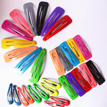 10 Pcs/lot Solid Candy Color Girls Hair Clips BB Clips Snap Band Hairpins Kids Hair Accessories