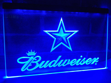 LD274- Dallas Cowboys Budweiser Bar LED Neon Light Sign home decor crafts(China)
