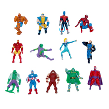 10pcs/lot 4cm Marvel The Avengers Super Hero Captain Batman Action Figure Doll Kids Children Toy kids Gift