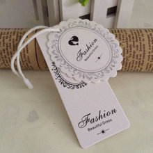 Custom clothes hang tag 300gsm paper board garment swing hanging tags personal label tags for kids jewelry  bags clothes