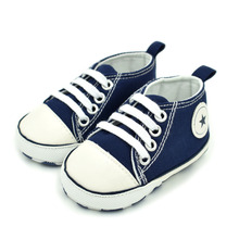 New Canvas Sports Sneakers Newborn Baby Boys&Girls First Walkers Shoes Infant Soft Bottom Anti-slip Shoes(China)
