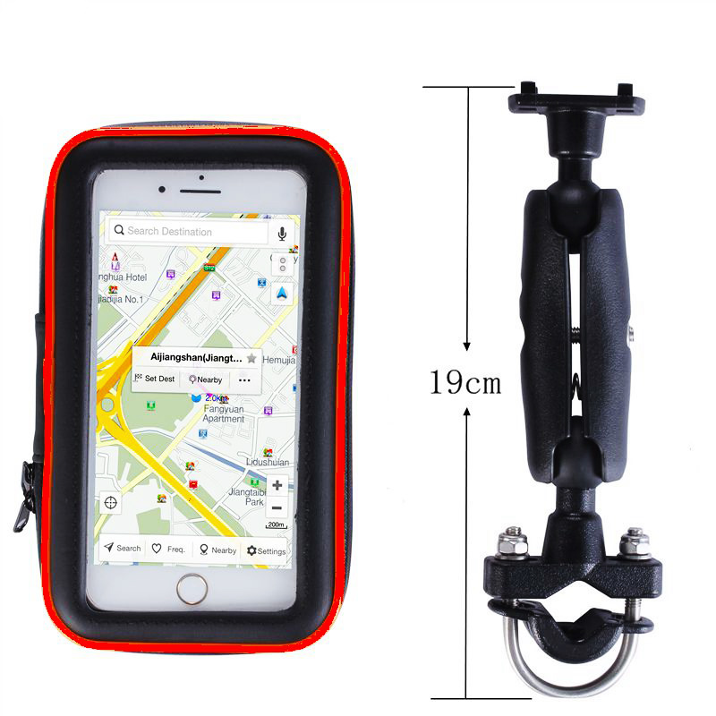 Fimilef Universal Bicycle Motorcycle MTB Bike Phone Bag Holder Front Frame Handlebar Pouch Cell Portable Waterproof Case Bracket (9)