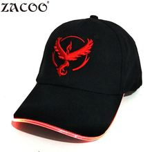 Zacoo LED Light Glow Club Party Sports Athletic Black Fabric Travel Hat Cap Led Cap Fashion Cool Baseball Cap(China)