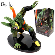 GonLeI Dragon Ball Z Figure DXF Cell PVC 180mm Dragon Ball Z Action Figure DBZ Cell Second Modal DragonBall Z T261(China)