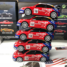 10pcs/lot Wholesale Brand New Majorette 1/57 Scale Car Model Toys Citroen WRC #18 Racing Car Diecast Metal Car Model Toy(China)
