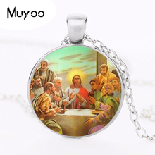 Blessed Virgin Mary Mother of Baby Necklace Jesus Christ Christian Pendant Catholic Religious Glass Tile Necklaces Pendants HZ1(China)