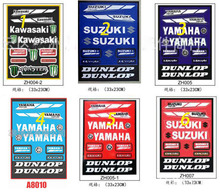 Motorcycle Stickers for yamaha logo motocross Sticker and decals moto parts car styling for Dirt bike ATV SUV Pit bike
