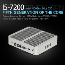 Mini PC i5 7200U Desktop Computer Windows 10 Intel NUC Nettop barebone system Fanless Kabylake HTPC HD620 Graphics 4K 300M WiFi(China)