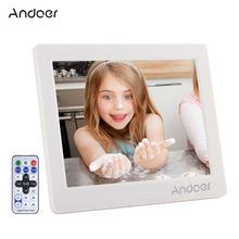 "Andoer 8"" HD LCD Digital Photo Frame Support Alarm Clock MP3 MP4 E-book Calendar Movie Player with Remote Control Birthday Gift(China)"
