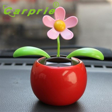 Solar Powered Dancing Flower Swinging Animated Dancer Toy Car Decoration New_KXL0712(China)