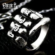 Beier new store 316L Stainless Steel ring New Designed power fist fasion Ring For Man jewelry LLBR8-288R(China)