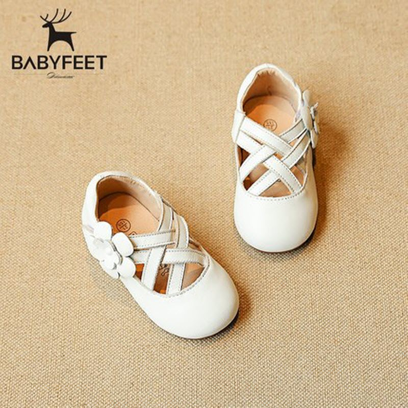 Free Shipping Babyfeet 1-3 Years Old children Genuine Leather girls red shoes princess Cow Leather toddler shoes kinder schuhe<br>