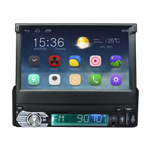 Android 5.1 Universal 1 Din Car video Player GPS Navigation In-dash retractable screen 1 din Car Radio Stereo with bluetooth