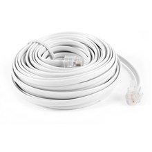 9M 30ft RJ11 6P2C Modular Telephone Phone Cables Wire White(China)