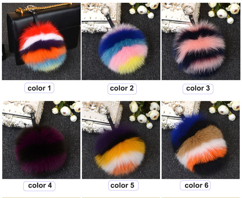 pompom charm multicolorstrips colors
