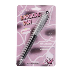 Promotion Fancy Toy Ball Point Pen Shocking Electric Shock Toy Gift Joke Prank Trick Fun Hot