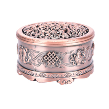 New Arrival Copper Lotus Incense Burner Alloy Mini Tibetan Incense Burner Sandalwood Censer Home Decor(China)