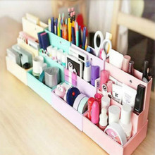 Foldable Mini DIY Paper Board Storage Desk Decor Stationery Organizer Makeup Cosmetic Box Hot Sale