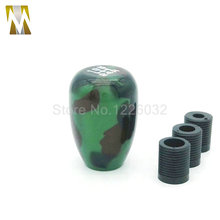 Manual Shift Boot quick Speed Shifter Knob 3 Adapter Gear Shift Knobs Army green