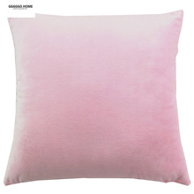 GGGGGO HOME,velvet fabric plain dyed pink throw pillow cover/cushion cover/pillow case for sofa/home/car/hotel decoration(China)