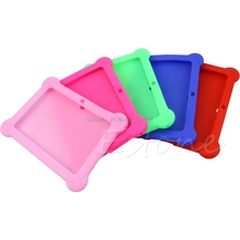 "Cute Silicone Soft Gel Case Cover For 7"" Android A13 A23 Q88 Tablet PC Kids Drop Shipping(China)"