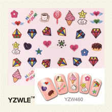 YZWLE 3D Design Stylish Beauty Black Mustache Nail Stickers Nail Art Stickers Decals Decoration Accessories