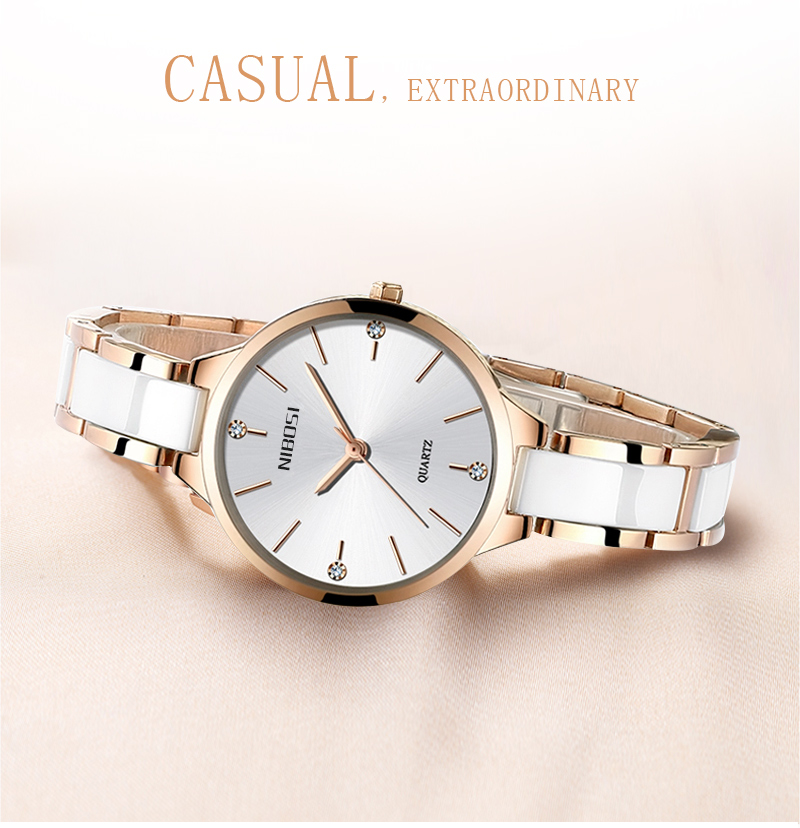 Relogio Feminino NIBOSI Women Watches Waterproof Top Brand Luxury Watch Women With Ceramics And Metal Strap Relojes Para Mujer (2)