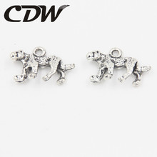Latest Design 12pcs/lot New Charms Leopard Animal Alloy Antique Silver Plated Pendant Finding Fit Jewerly DIY