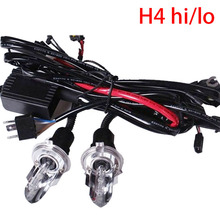 2pcs 35W car Headligh H4 HI/LO Xenon bulb hid bulb H4 Bi xenon 12V AC h4 Swinging light bulb HID h4 6000K Hi Lo Beam Lamp