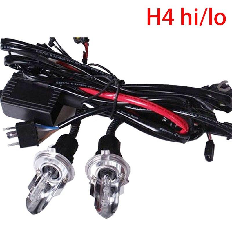 2pcs 35W car Headligh hid bulb H4 Bi xenon 12V AC h4 Swinging light bulb HID H4 HI/LO Xenon bulb h4 6000K Hi Lo Beam Lamp<br><br>Aliexpress