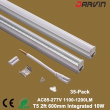 2ft T5 Fluorescent Led Tube Lighting 10 Watts 60CM 600mm 10W LED Lampada 260v  Fluorescent Tube Light T5 35PCS/Lot