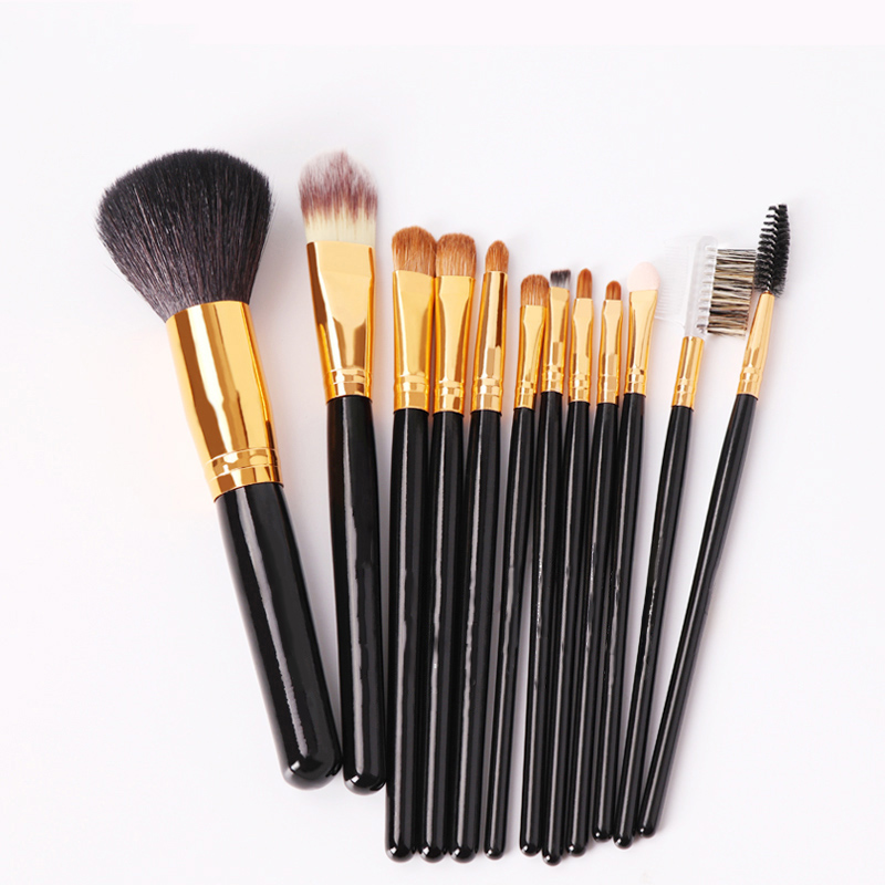 Professional Makeup Brush Set High Quality Soft Hair Taklon Eye Shadow Brush Foundation Eyebrow Lip Brush Multi-function Brushes<br>