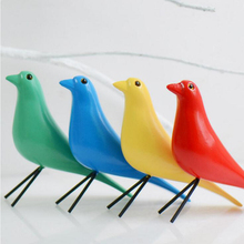 Hot Home Decoration Wooden Crafts Bird Designer Crafts Furnishings Weeding Gift Desktop Accessories Dove Peace European Mascot(China)