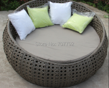 2015 New arrival outdoor furniture rattan round lounger sofa