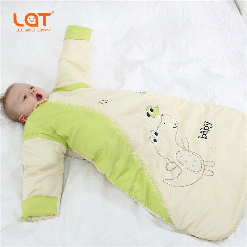 High Quality LAT Baby Toddler Winter Warm Sleeping Bag sleepsack kids Swaddle Wrap Thickness Cushion Bedding Set 2.5 Tog Unisex<br>