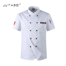 2017 High Quality Chef Uniforms Clothing Short Sleeve Unisex Food Services Cooking Clothes 5-Color Big Size Uniform Chef Jackets