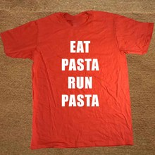New Eat Pasta Fasta Joke Faster Fast Healthy T Shirt Men Funny Tshirt Man Clothing Short Sleeve Camisetas T-shirt(China)