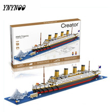 YNYNOO New Arrivals Building Blocks Model The Titanic DIY Assemble Building Blocks Model Classical Toys Gift for Children