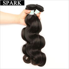 Spark Hair Weaving Indian Body Wave Human Hair Weave Bundles 1Piece non Remy Hair Extensions 8-26inch Can Be Dyed Can Buy 3/4Pcs(China)
