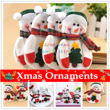 2PC Popular Snowman Pattern Christmas Tableware Decoration Snow Man Silverware Holder Cutlery Pocket Dining Present Bags Navidad