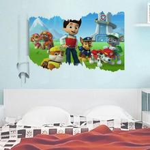 2pcs 15% off 3d dogs wall decals kids room decor 1462. diy adesivos de paredes home stickers animal mural art cartoon poster 2.5
