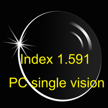 1.591 PC polycarbonate single vision (UV400) HMC/Thin/ high impact resistance safe can't be broken