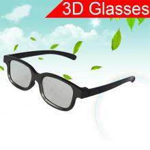 New Black Circle Round Polarized 3D Glasses Movie LCD Video Game Theatre TV Theatre Movie Circular