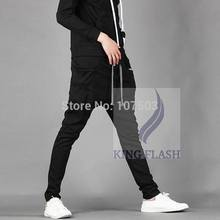 2014 Hot Sales Men Sport Pants Regular Fit Sports Harem Pants Bag Jogging Trousers Sweatpants 3colors 16719