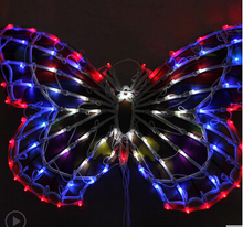Outdoor lamp lights chandeliers wedding clothing store window decoration supplies 50 cm big butterfly bowknot activities(China)