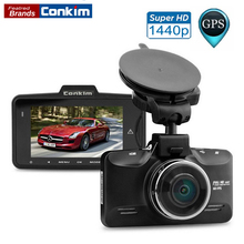 Conkim Car DVR Ambarella A7LA70 Car Camera Video Recorder 178 Degree 2304*1296P Car DVR GPS Logger with G-Sensor HDR Car DVRs