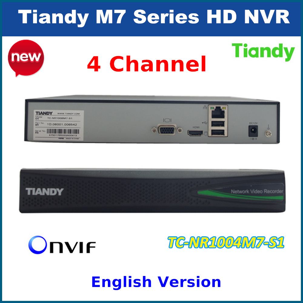 2016 Original TIandy 4CH NVR TC-NR1004M7-S1 1080P Support Onvif p2p and 1pc of 4T Hard Disk Network video recorder<br><br>Aliexpress