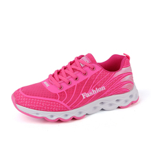 Women Running Shoes Outdoor Athletic Sport Sneakers Spring And Summer Breathable Mesh Upper Lace Up 4 Colour Light  Female shoes